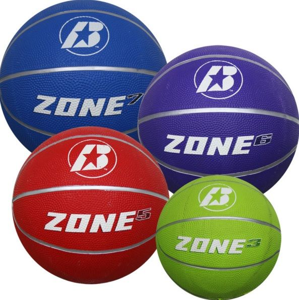 BASKETBALL BADEN RUBBER ZONE TRAINING BALLS (SIZE 7, 6, 5, 3)