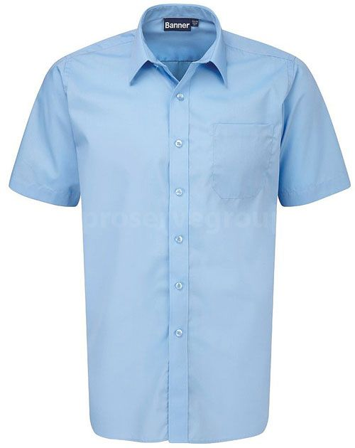Boys Blue Twin Pack Short Sleeve Shirt
