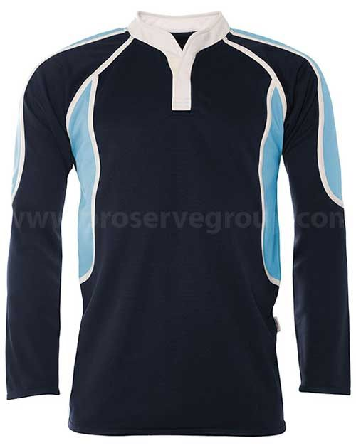 Coombeshead PE Rugby Shirt (Navy/Sky)