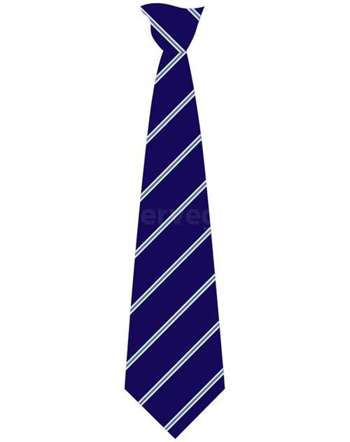 Coombeshead Striped Tie (Navy/Royal/Silver)