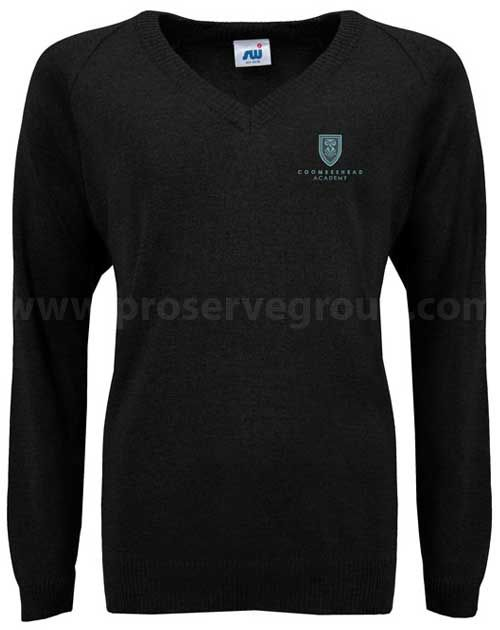 Coombeshead V-Neck Jumper (Black)