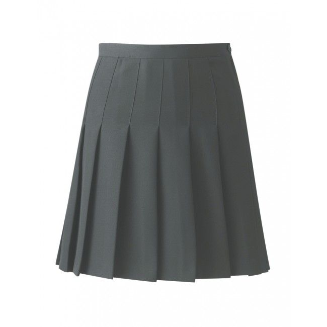 Designer Pleated Skirt (Steel Grey)