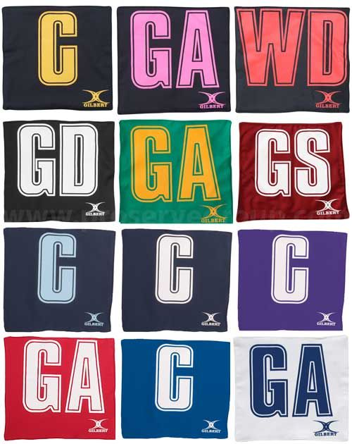 Gilbert Netball Bib Patches (Set Of 14)