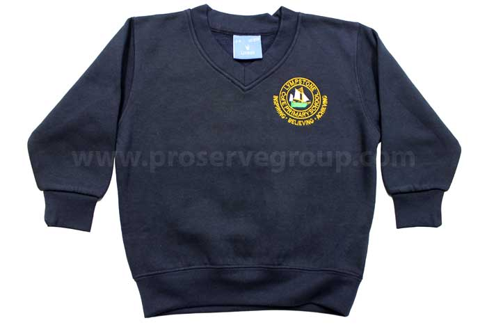 Lympstone V-Neck Jumper (Navy)