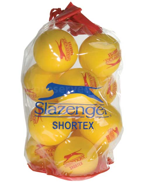 Slazenger 'Shortex' Short Tennis Ball (12 Ball Pack)