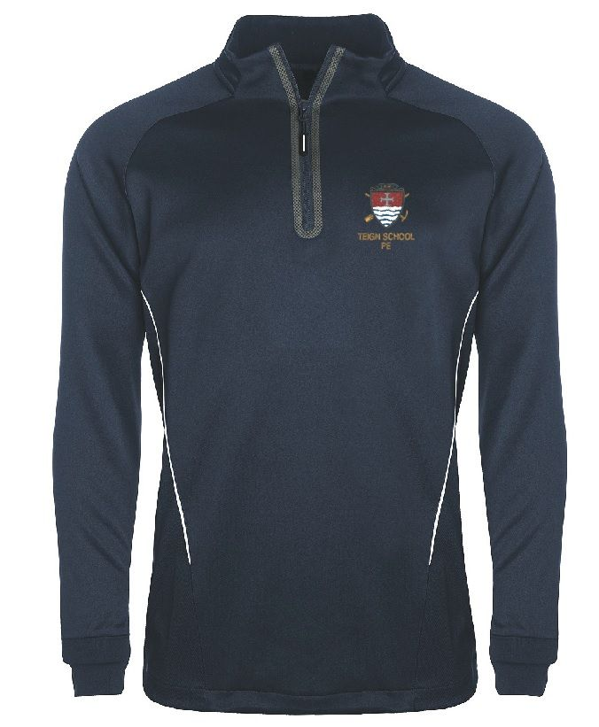 Teign Badged Aptus Performance Training Top (Jacket) (Navy/White)
